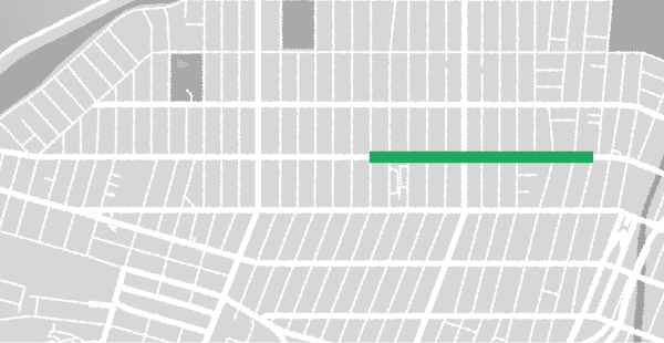 Map of the northern version of the 3rd Ave. Summer Stroll, one of the Bay Ridge Summer Strolls.