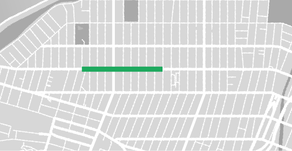 Map of the southern version of the 3rd Ave. Summer Stroll, one of the Bay Ridge Summer Strolls.