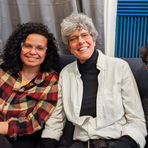 Three of the founding members of Bay Ridge For Social Justice: Yasmine, Sherry and Danielle, in the Radio Free Bay Ridge studio.