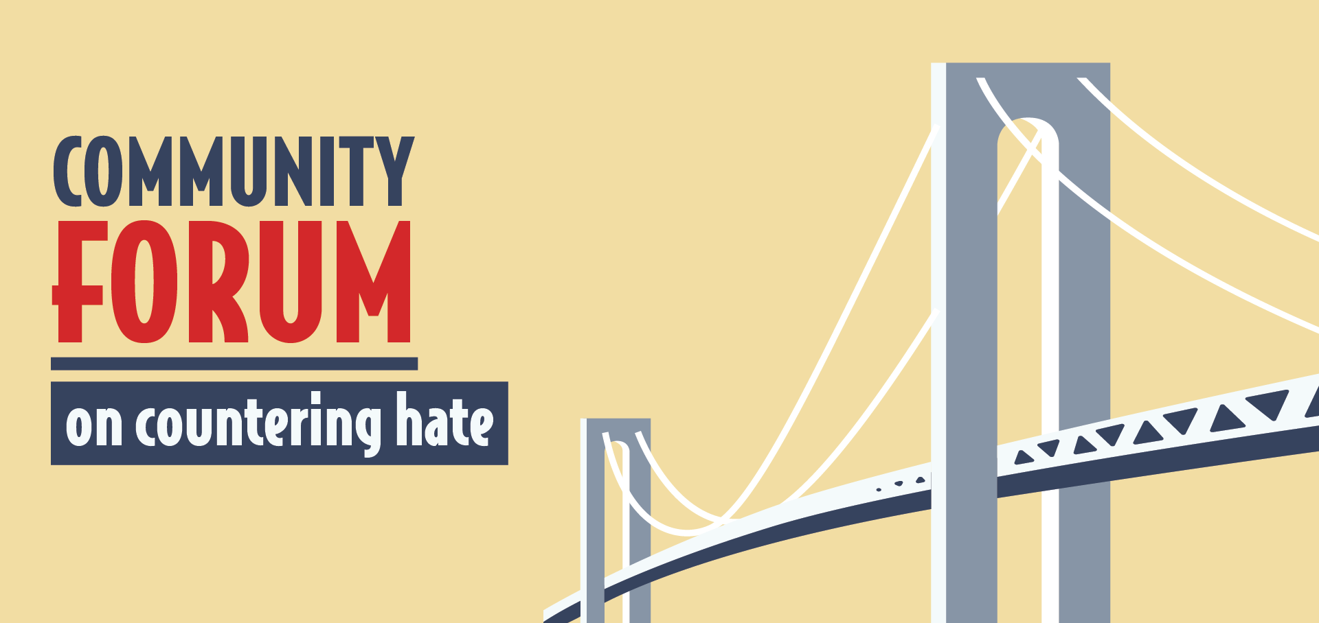Banner Image for the Countering Hate Community Forum in Bay Ridge