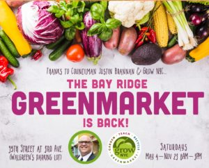 Flyer for the Bay Ridge Greenmarket