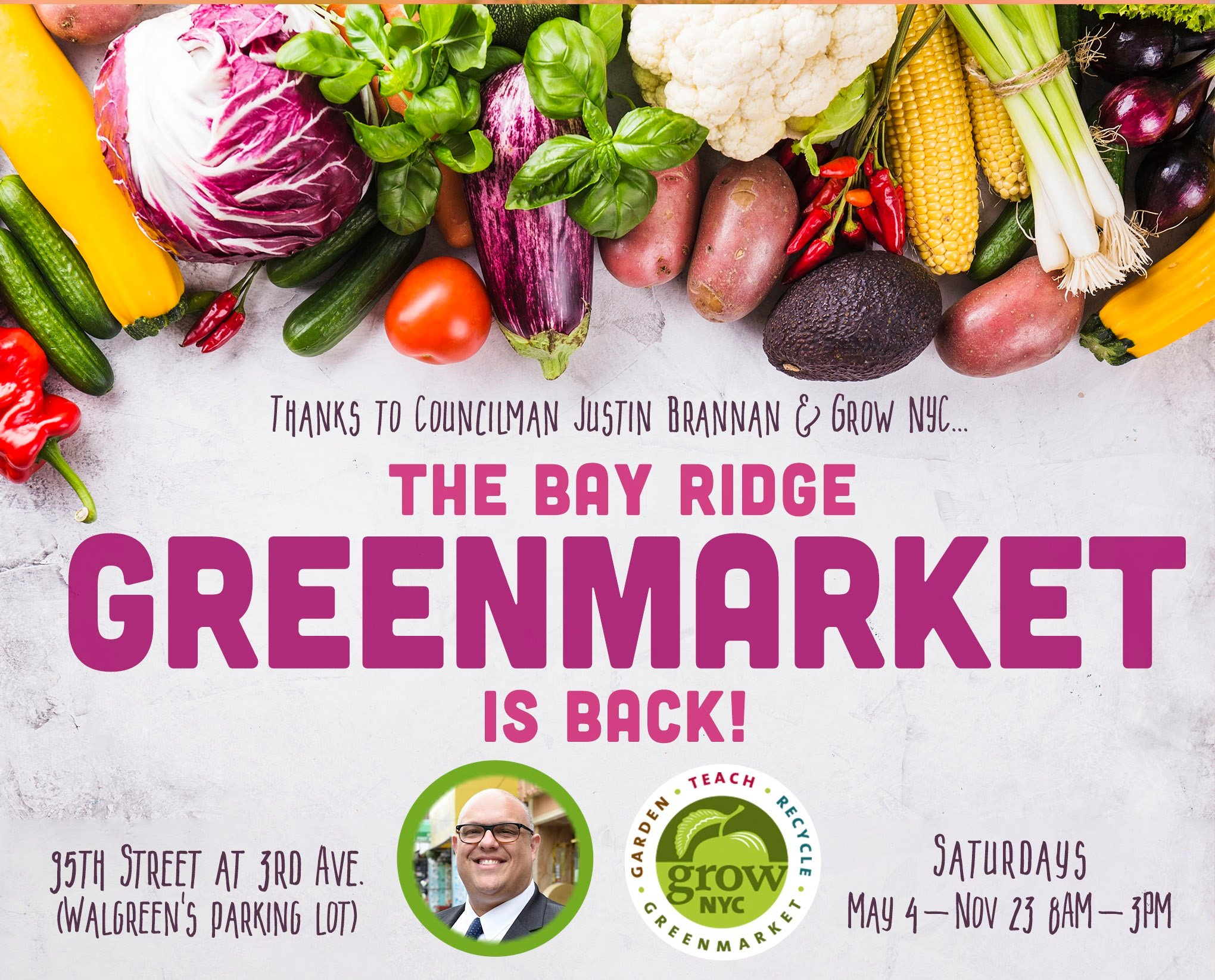 Flyer for the Bay Ridge Greenmarket