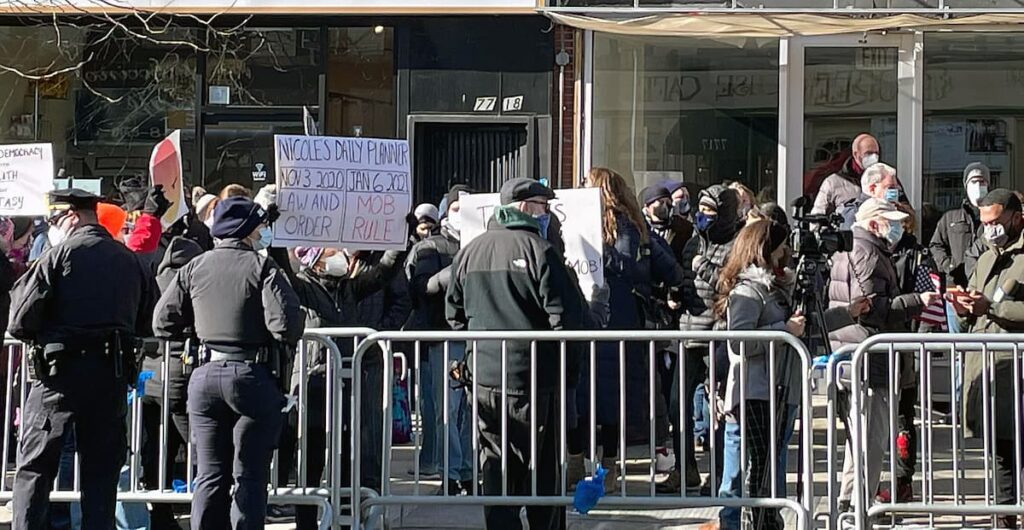 The January 9th 2021 protest against Nicole Malliotakis at her then-empty District Office
