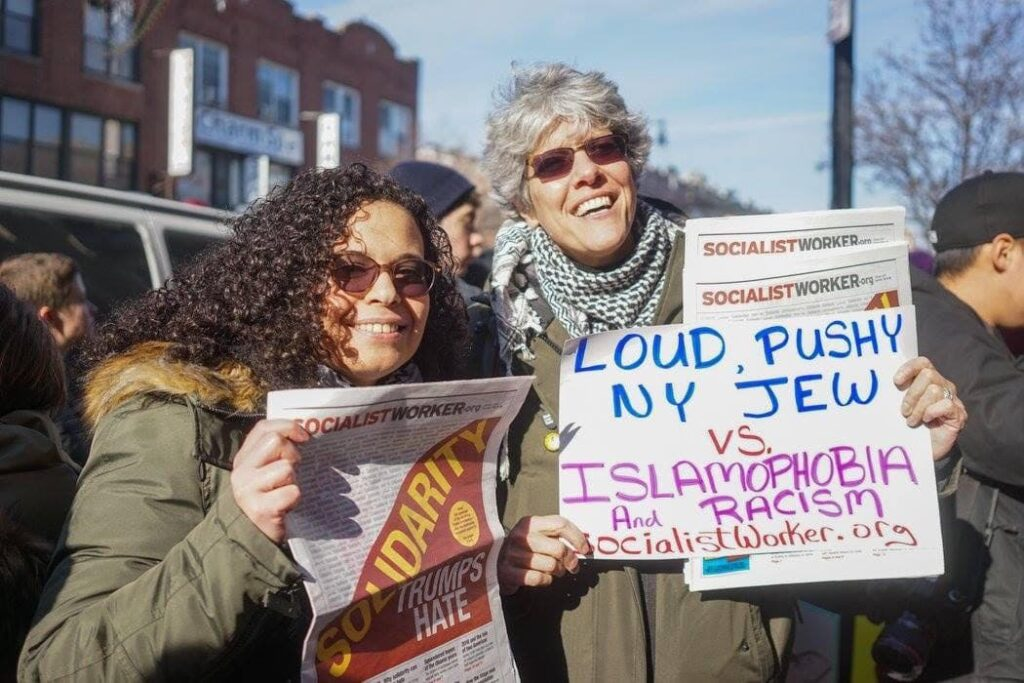 Sherry and Yasmine at a rally for Bay Ridge For Social Justice