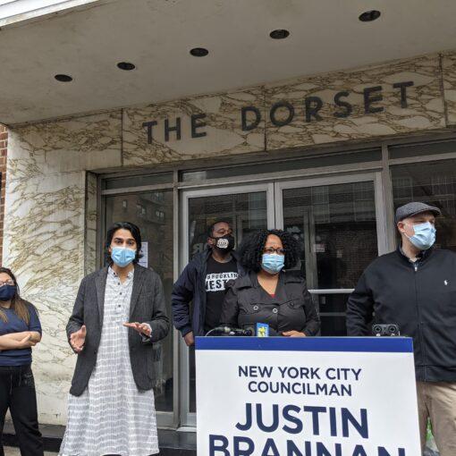 Organizers protesting Alan Polen and Revlyn Apartments LLC