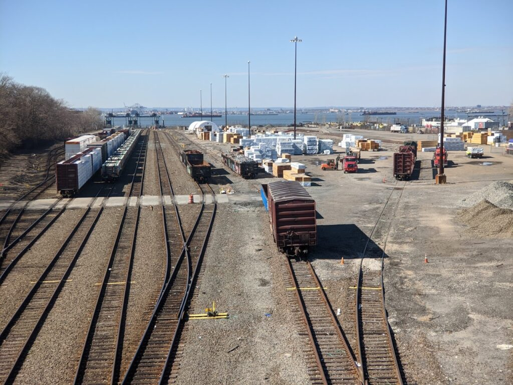 A view of the proposed terminus of the Triboro rail line in Bay Ridge, Brooklyn